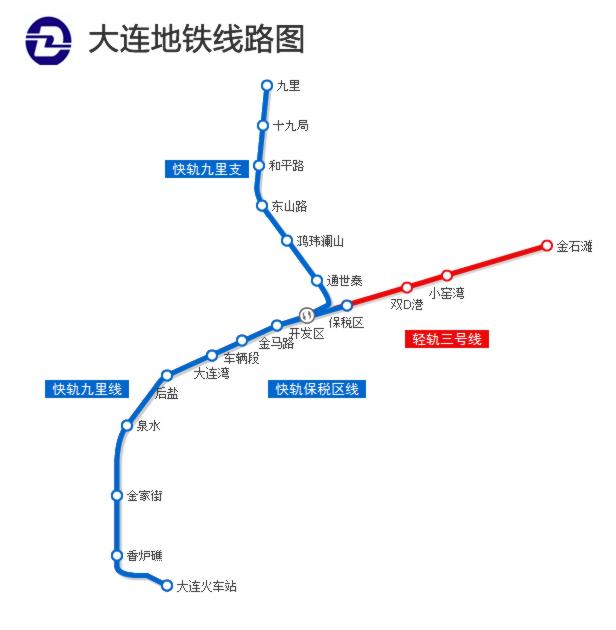 大连地铁6号线线路图图片